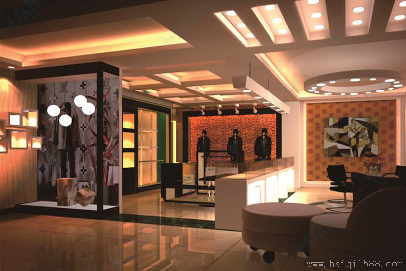 Clothing industry - men's clothing store display design