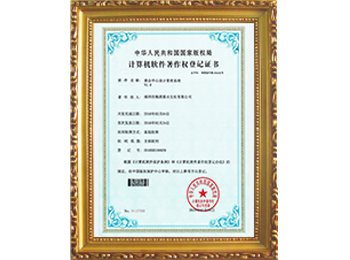 Computer software copyright registration certificate -5